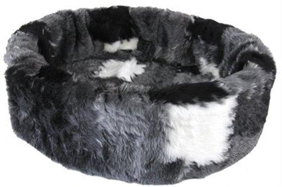 Petcomfort Bontmand Lapjesdeken - Kattenmand - 40 cm - Grijs