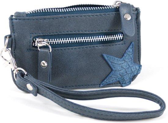 217e516897e bol.com   Kleine zak portemonnee met ster- blauw blingdings