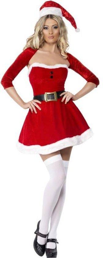 fb51268b2e2ffe Kerstvrouw jurkje met bolero en kerstmuts