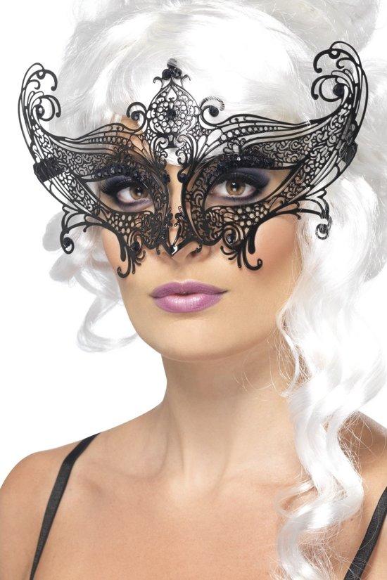 """""""Zwart vlindermasker voor volwassenen - Verkleedmasker - One size"""""""