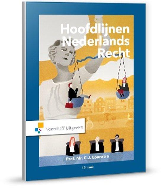 Boek cover Hoofdlijnen Nederlands recht van C.J. Loonstra (Hardcover)