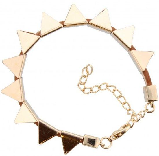 Mooie metalen goudkleurige armband met sluiting