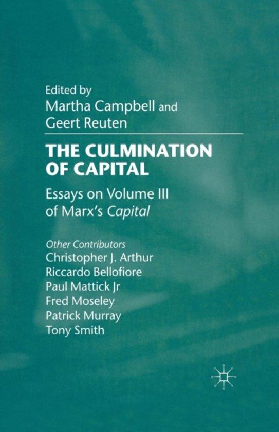 Boek cover The Culmination of Capital van  (Paperback)
