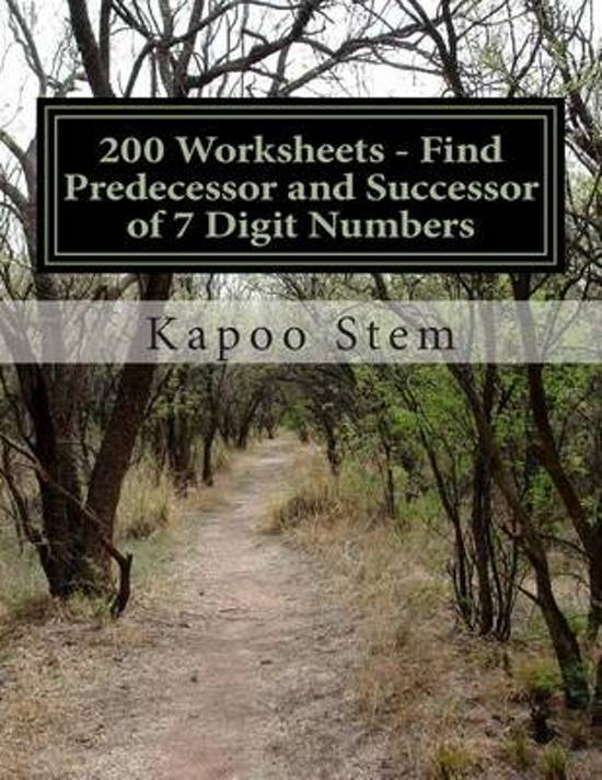 200 Worksheets - Find Predecessor and Successor of 7 Digit Numbers