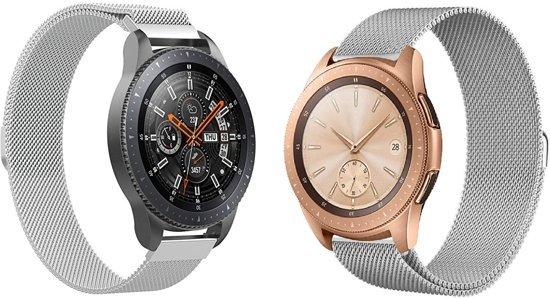 Milanese Loop Armband Voor Samsung Galaxy Watch 42 MM Band Strap - Milanees Armband Polsband - Zilver Kleurig