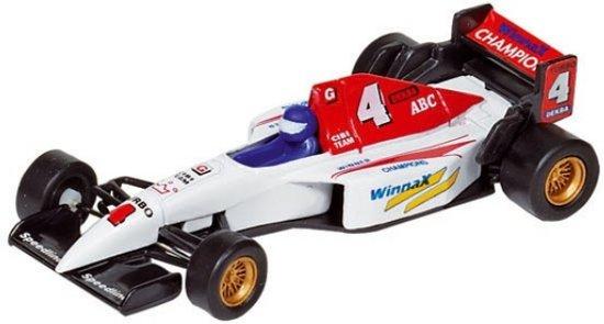 Welly Metalen auto: formule 1 racer wit 10,7 cm