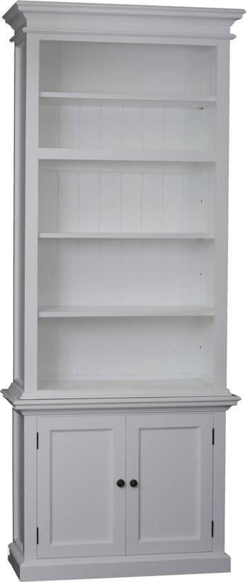 nova solo ca612 boekenkast wit hout