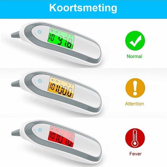 Oorthermometer Professioneel - Voorhoofd thermometer - Digitale infrarood thermometer voor koorts - Lichaam thermometer voor baby - Thermometer kinderen en volwassenen - Oorthermometer voor kinderen - Professionele koortsthermometer - VitaVitalis