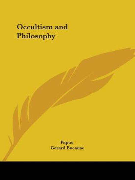 Occultism and Philosophy