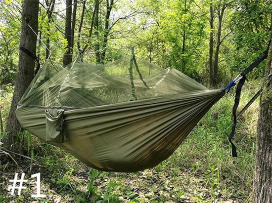 Hangmat met muggennet in camouflage stijl - moskito