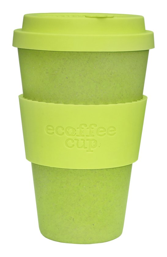 Ecoffee Cup Bamboe Beker - 400 ml Lime Spider met Lime Siliconen
