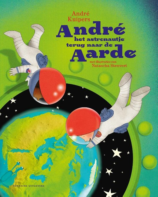 André het astronautje terug naar de aarde