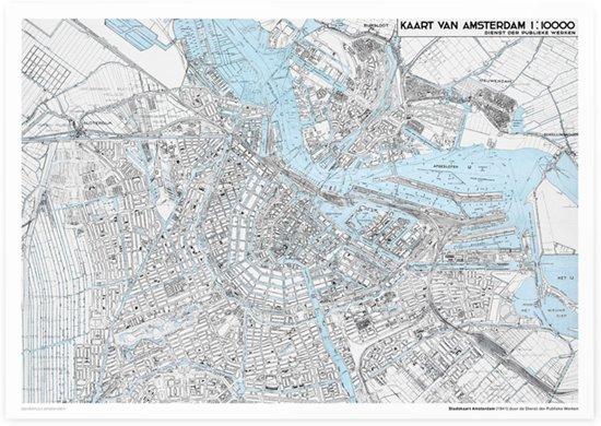 Aandemuur Poster Stadskaart Amsterdam (uit 1941)