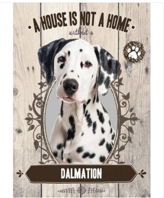 Wandbord - Dalmation -14x20cm-