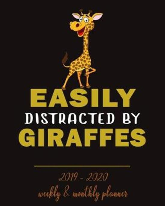 Easily Distracted By Giraffes- 2019 - 2020 Weekly & Monthly Planner: Weekly Planner(From November 2019 Through December 2020)-Planner Schedule Monthly
