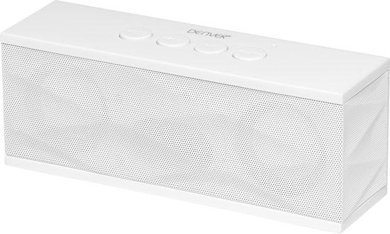 Denver BTS-61 - Draadloze speaker met FM radio - Wit