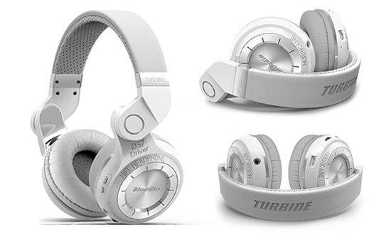 Bluedio T2 Bluetooth koptelefoon hoofdtelefoon WIT