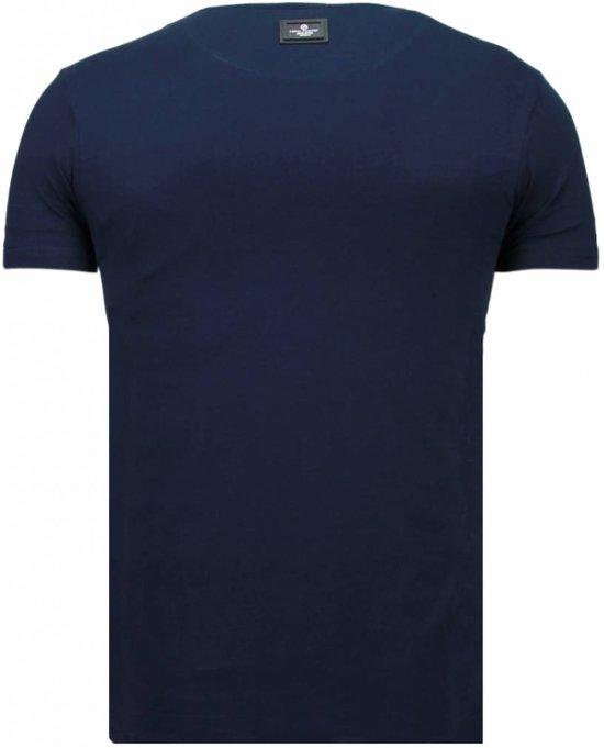 Skull MatenXxl Fanatic shirt Blauw Local T RebelRhinestone tQxBsrChd