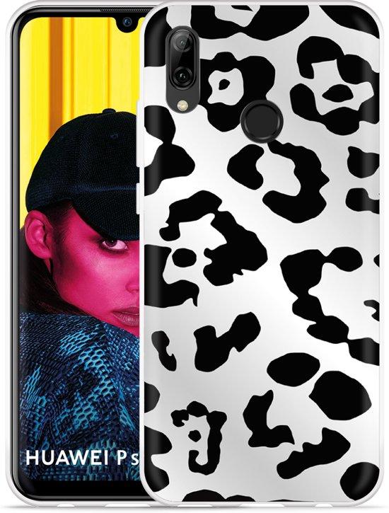 ffbf1623a2f Huawei P Smart 2019 Hoesje Luipaard Zwart Wit