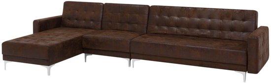 Beliani Aberdeen Slaapbank Bruin Stof 321x108