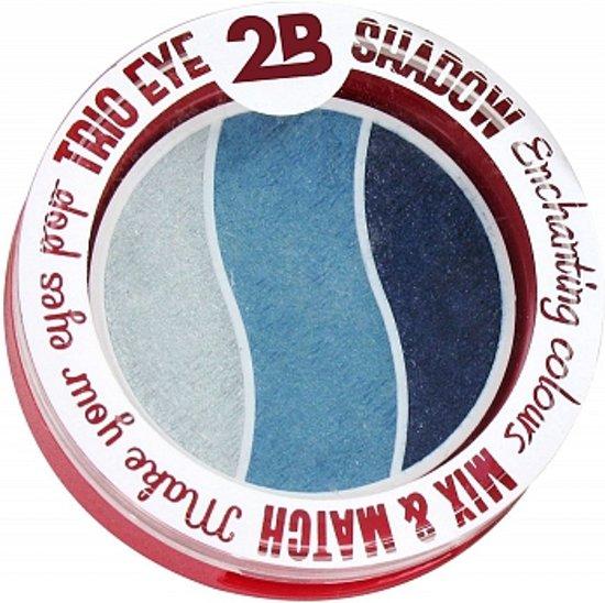2B-Trio eye shadow Enchanting colours 08 grey/green/blue