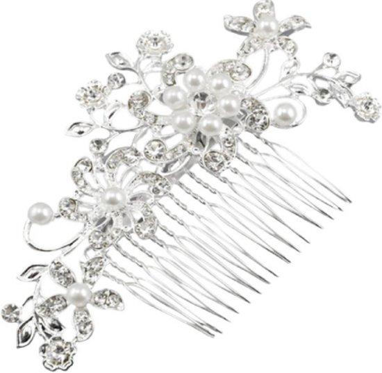 Bruids haarversiering- Bloem schuif- 12 cm- Charme Bijoux®