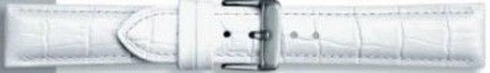 Echt leder kroko wit 20mm pvk-285