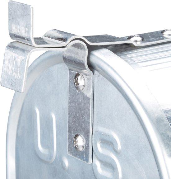 relaxdays Amerikaanse brievenbus, US-mailbox, aluminium met vlag, USA mail