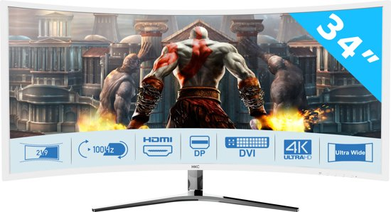 HKC NB34C 34 inch Curved 100Hz Gaming Full HD LED Monitor 21:9