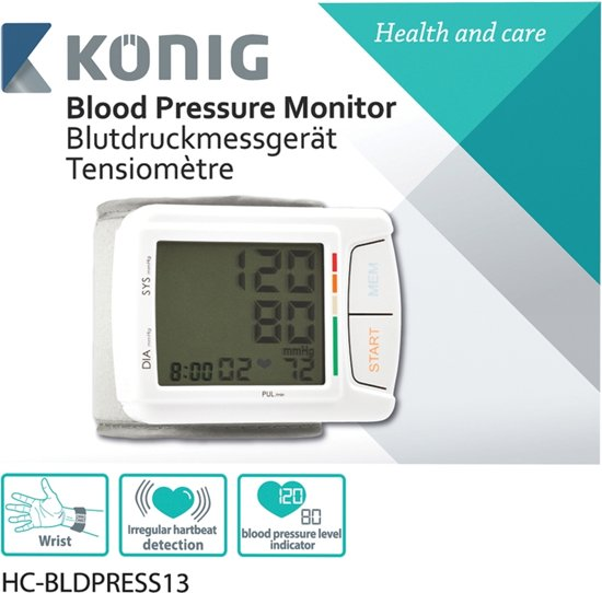 König HC-BLDPRESS13 Pols Automatisch bloeddrukmeter