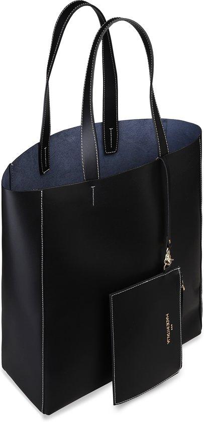Nero Shopper Fosca Italia Dames Zwart Made In OPTikXuZ