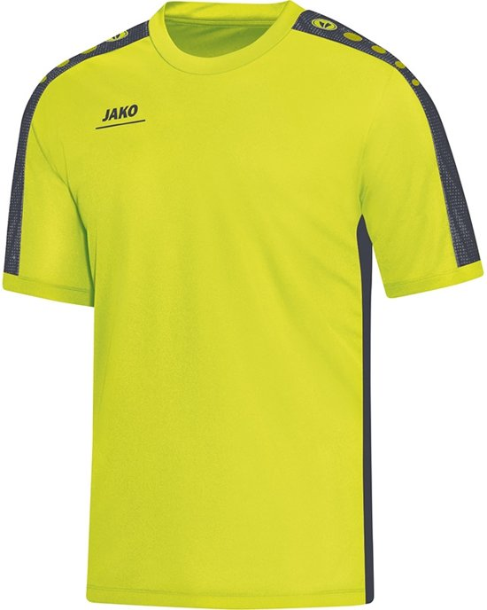 Jako - T-Shirt Striker - lime/antraciet - Maat XL