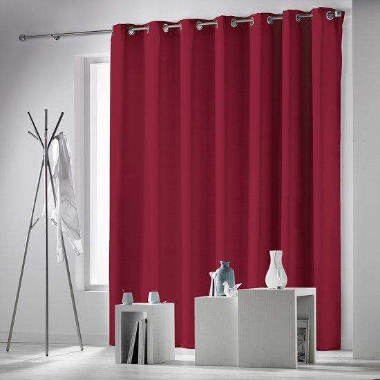 rideau verduisterend gordijn rood 280x260 cm kant en klaar met ringen