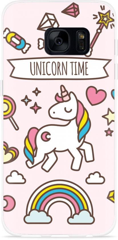 Galaxy S7 Edge Hoesje Unicorn Time