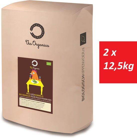 Bio Legkorrels 2 x 12,5kg - biologisch kippenvoer