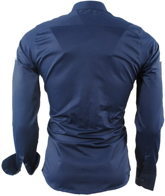 Blue Steel Overhemd Ferlucci Stretch Slimfit Napoli Heren wxYWTzq4O