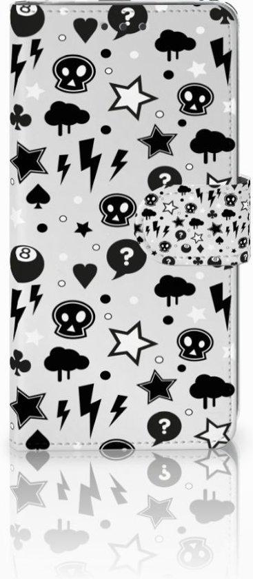 LG G6 Uniek Boekhoesje Silver Punk