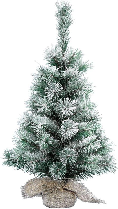 everlands vancouver sneeuw mini kunstkerstboom 60 cm hoog zonder verlichting