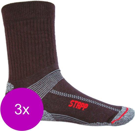 Stapp Unisex Coolmax Cordura Zwart - Sokken - 3 x 47-50