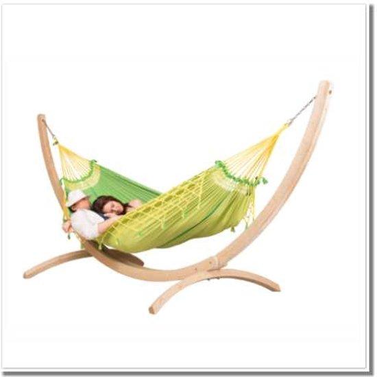 Hangmatset: 2-persoons hangmat COPA canarinha + Standaard voor 2-persoons hangmat CANOA