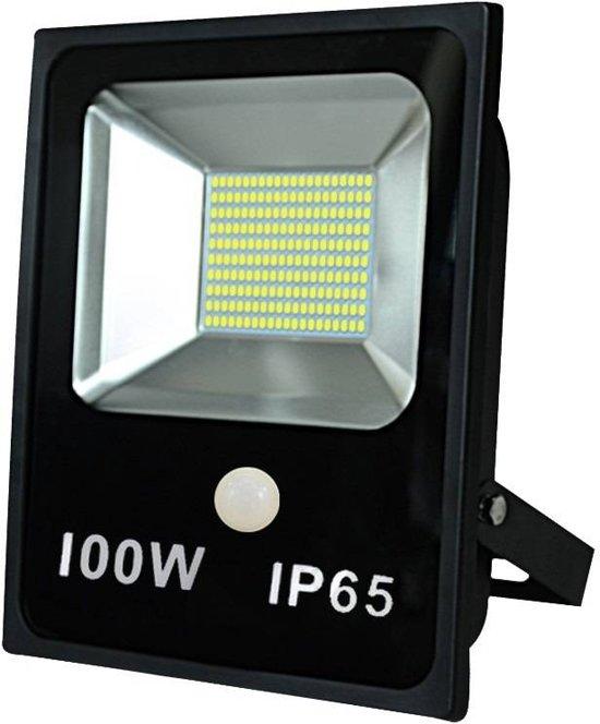Vaak bol.com | LED SMD Straler / Bouwlamp Met Sensor 100 Watt. Wit Licht JP54