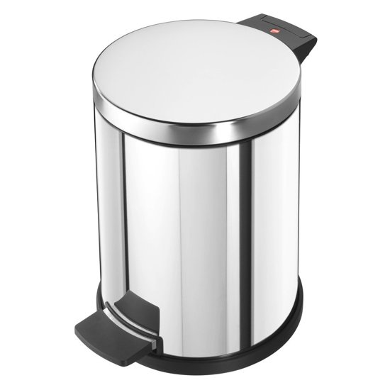 Hailo pedaalemmer - 12 l - met gegalvaniseerde binnenemmer - RVS - Zilver