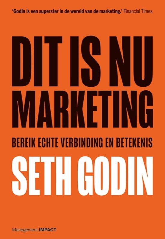Boek cover Dit is nu marketing van Seth Godin (Paperback)