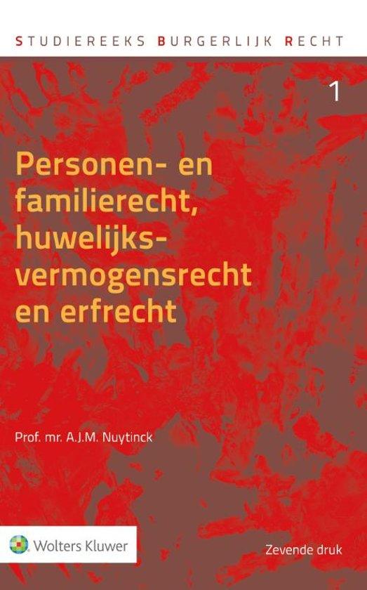 Boek cover Personen- en familierecht, huwelijksvermogensrecht en erfrecht van M.J.A. van Mourik (Hardcover)