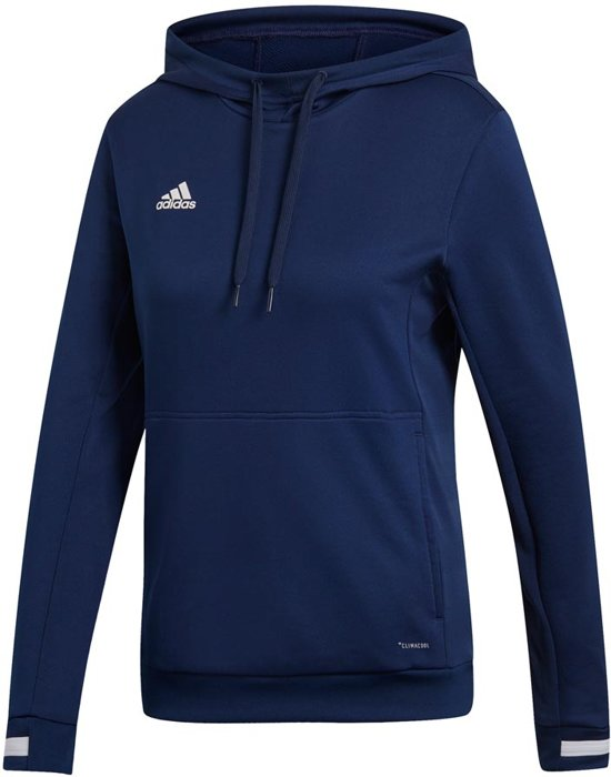Adidas Team 19 Dames Hoody - Sweaters - blauw donker - S