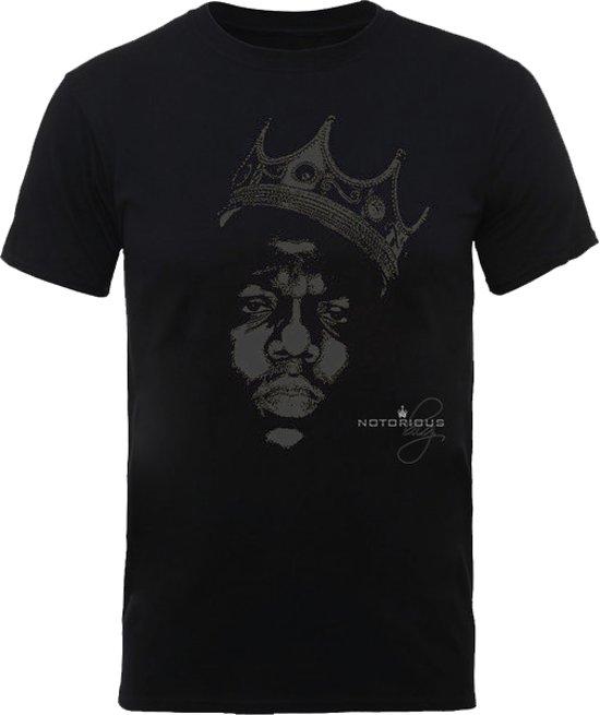 Biggie Shirt - The Notorious B.I.G. Black Crown Maat XL