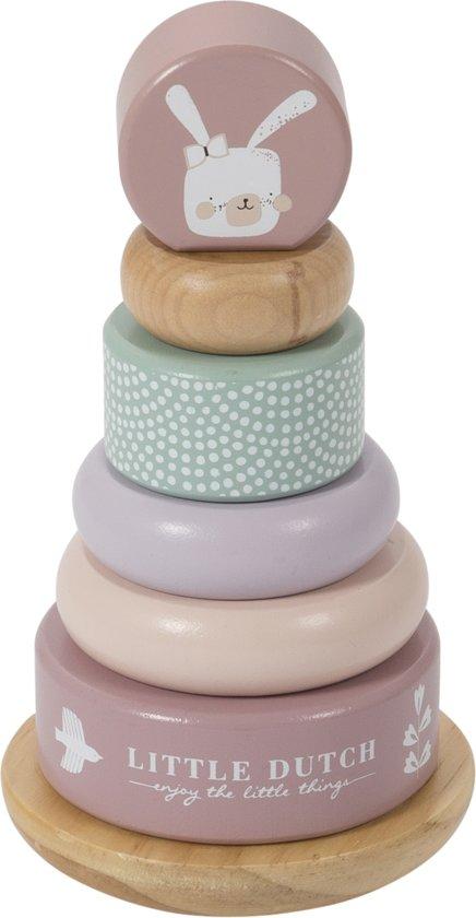 Afbeelding van Little Dutch Houten Tuimelring Roze speelgoed