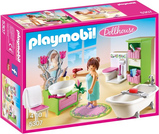 bol.com   Playmobil Dollhouse: Badkamer Met Bad Op Pootjes (5307 ...