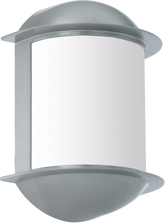 EGLO Isoba - Buitenverlichting - IP44 - Wandlamp - 1 Lichts - Zilver - Wit