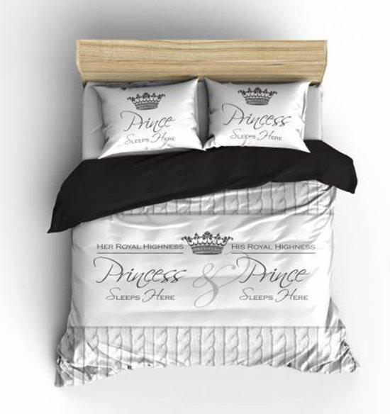 Nightlife Dekbedovertrek Royalties White-240 x 200/220 cm